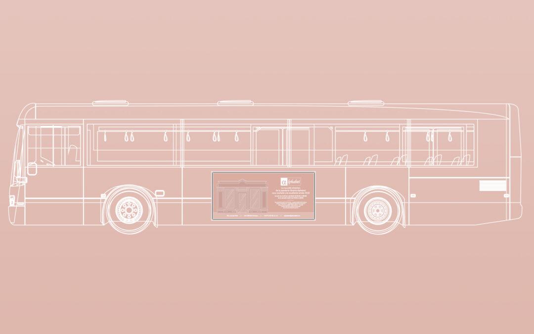 Alphabet Papeterie • Affichage Flanc bus