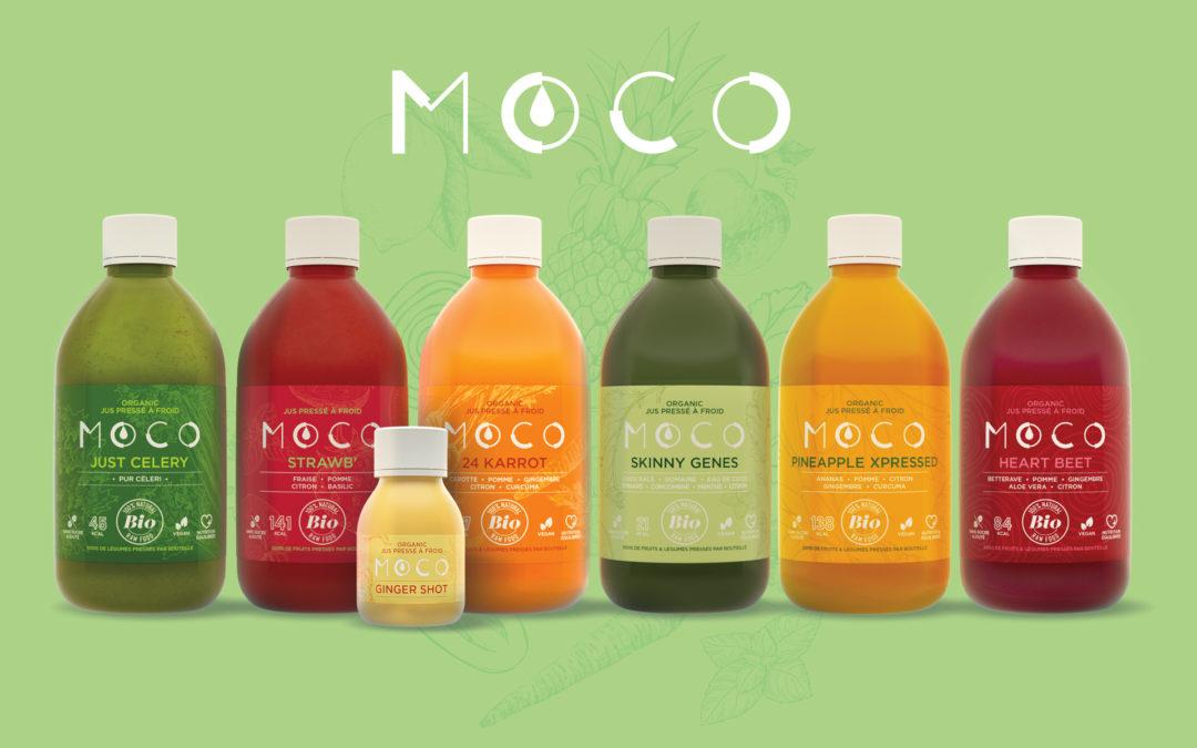 Moco • Jus pressés Bio • Packaging
